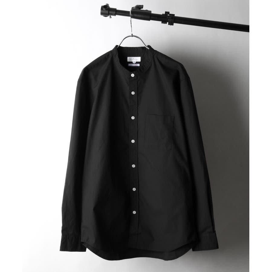 日本製タイプライターバンドカラーシャツ【28-115】 21