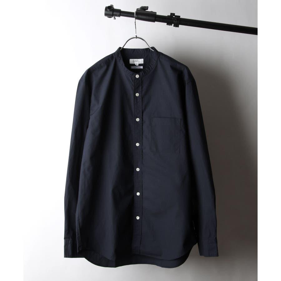 日本製タイプライターバンドカラーシャツ【28-115】 64