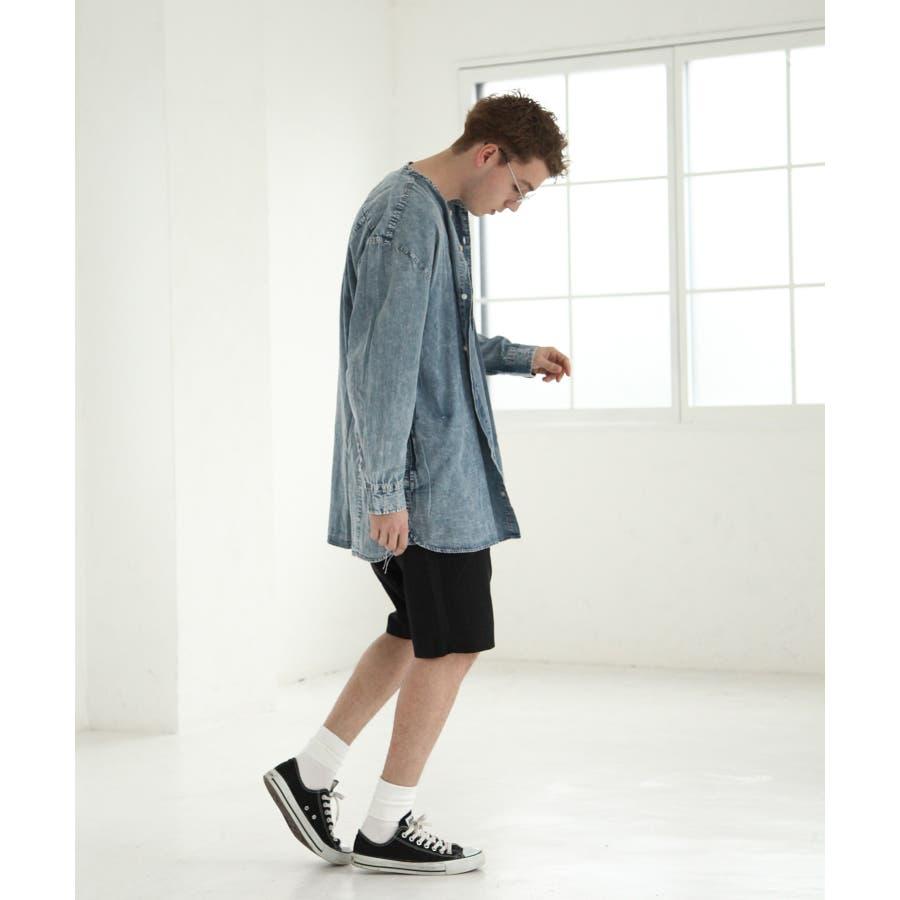 デニムバンドカラービッグシャツコート【br19ss01】 5