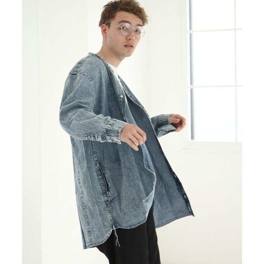 デニムバンドカラービッグシャツコート【br19ss01】 76