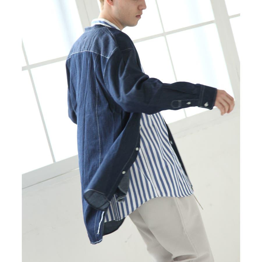 デニムバンドカラービッグシャツコート【br19ss01】 9