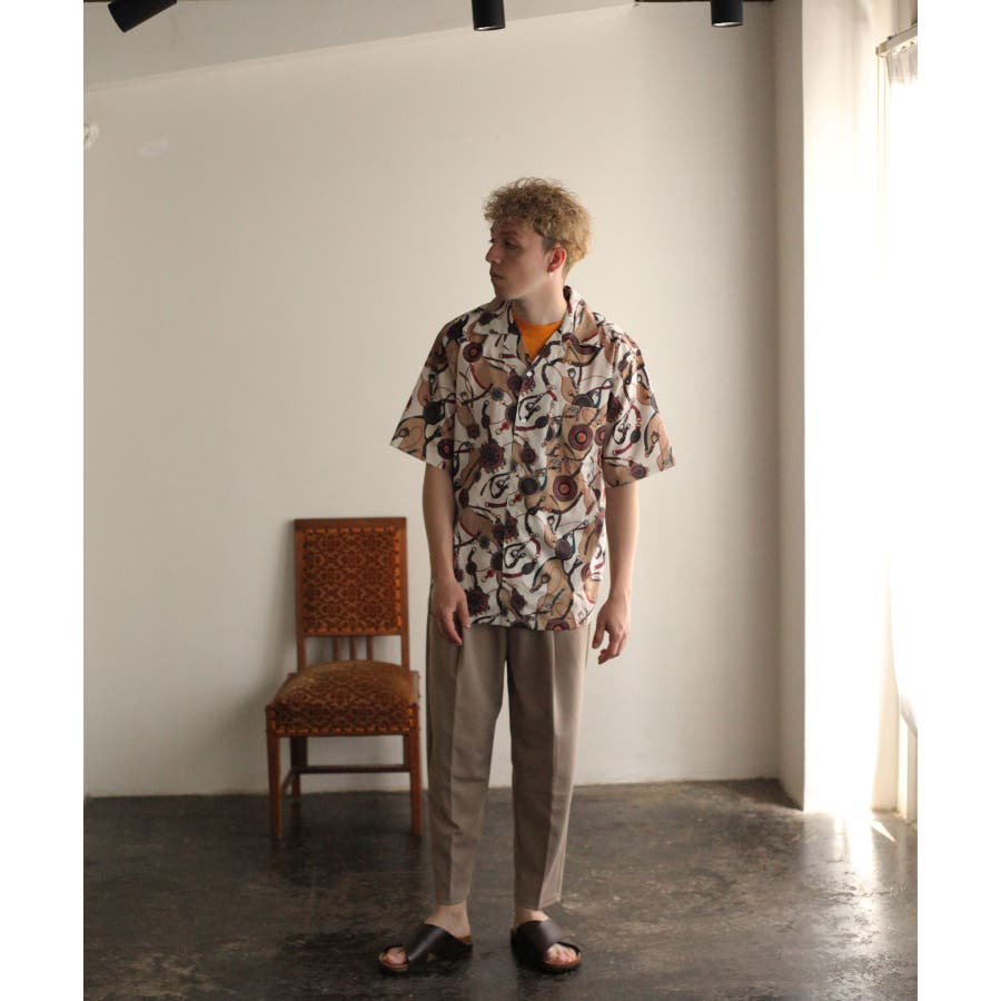 転写プリントオープンカラーシャツ【br2006】 6