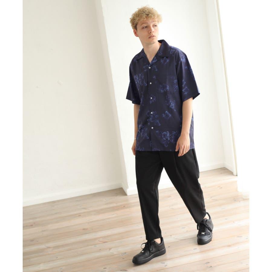 転写プリントオープンカラーシャツ【br2006】 7