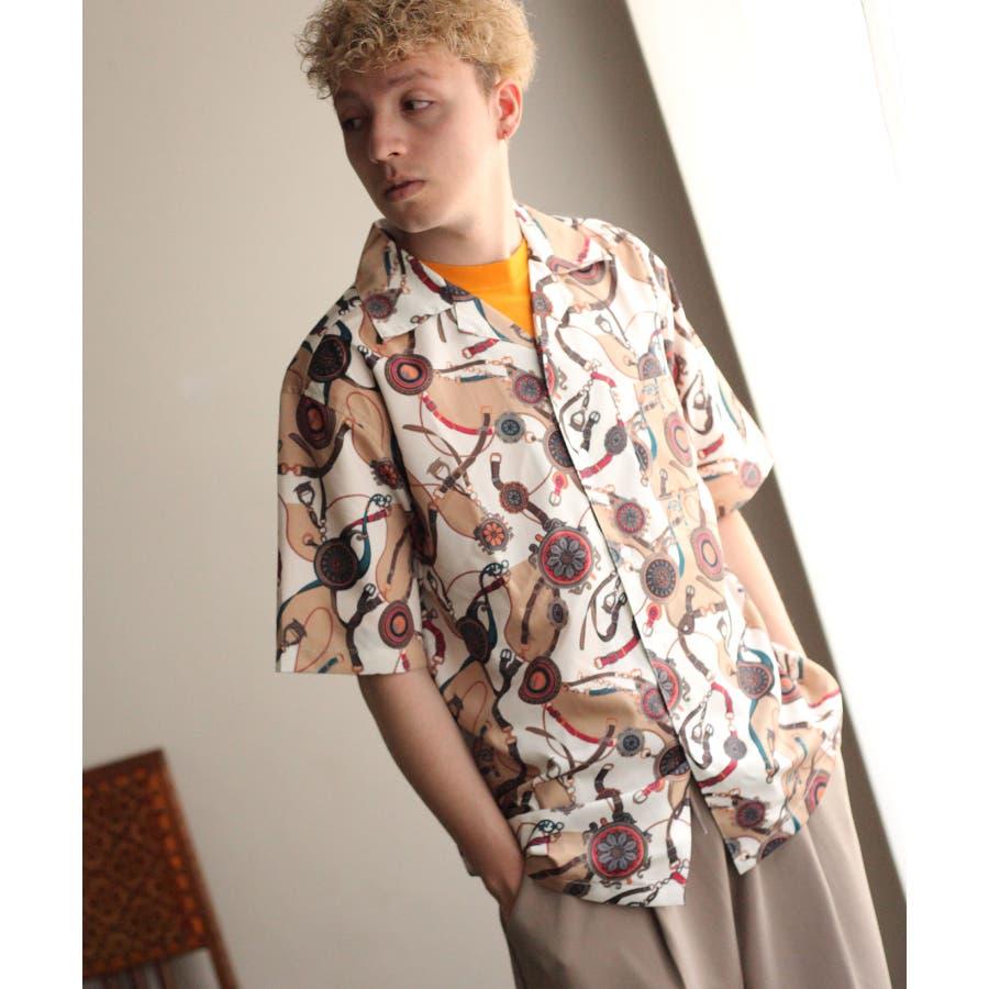転写プリントオープンカラーシャツ【br2006】 46
