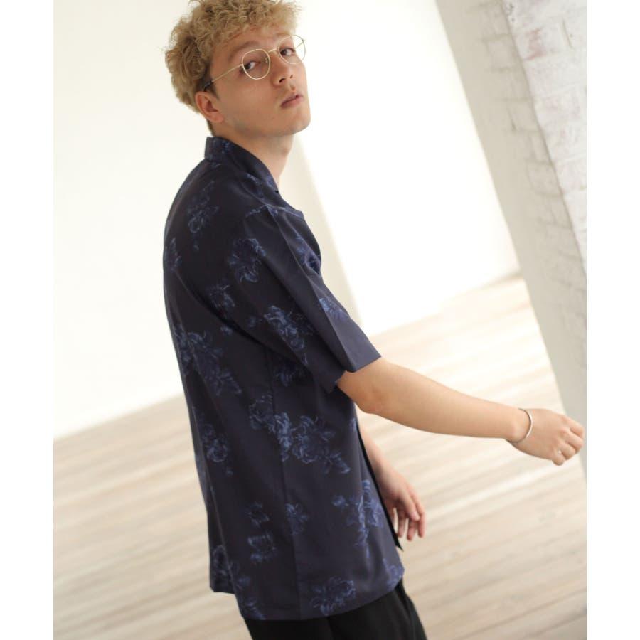 転写プリントオープンカラーシャツ【br2006】 22