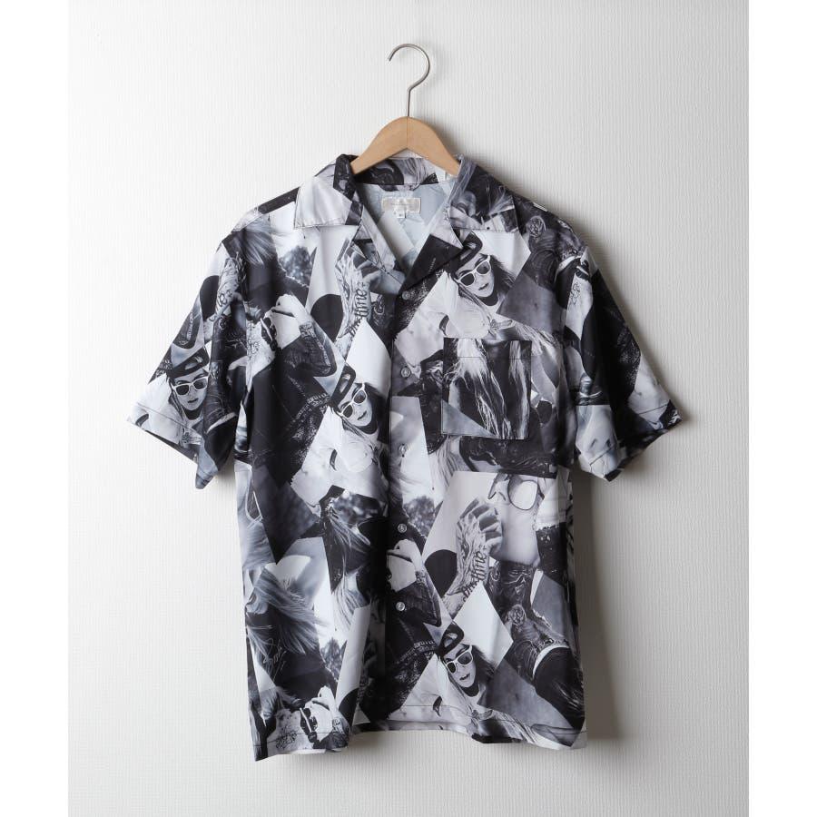 転写プリントオープンカラーシャツ【br2006】 28