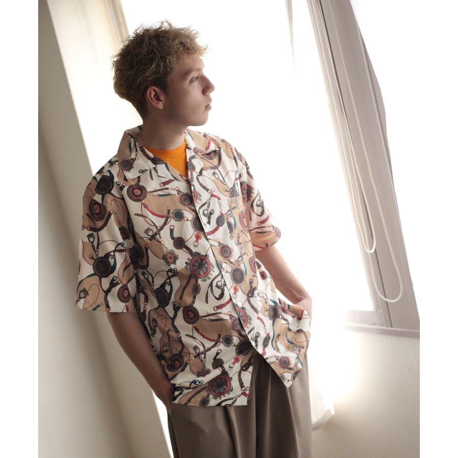 転写プリントオープンカラーシャツ【br2006】 10