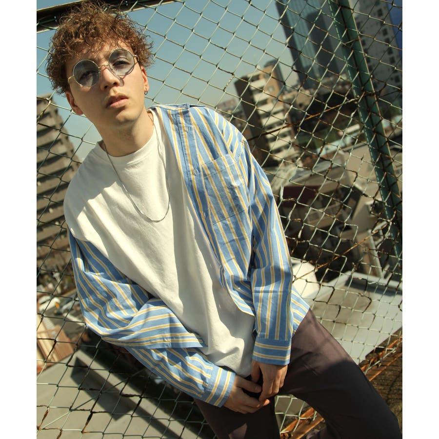 シャツ カジュアルシャツ ビッグシャツ ビッグシルエット クリアポケット Nilway ニルウェイ【db19ss-002】 59