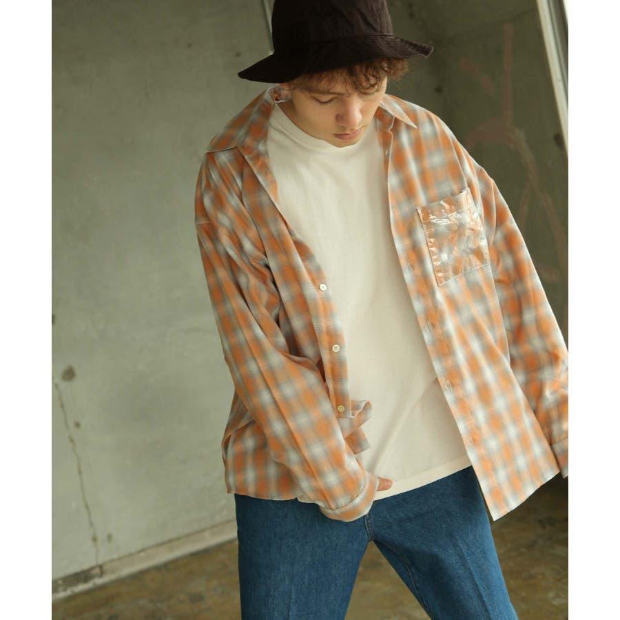 シャツ カジュアルシャツ ビッグシャツ ビッグシルエット クリアポケット Nilway ニルウェイ【db19ss-002】 99