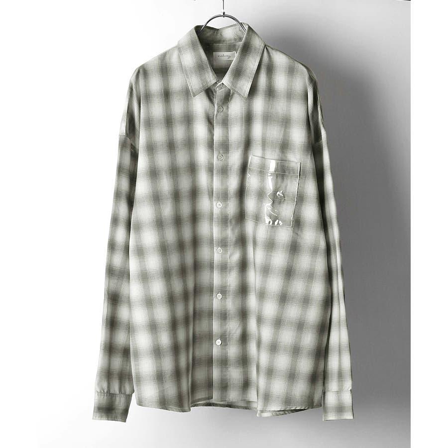 シャツ カジュアルシャツ ビッグシャツ ビッグシルエット クリアポケット Nilway ニルウェイ【db19ss-002】 21