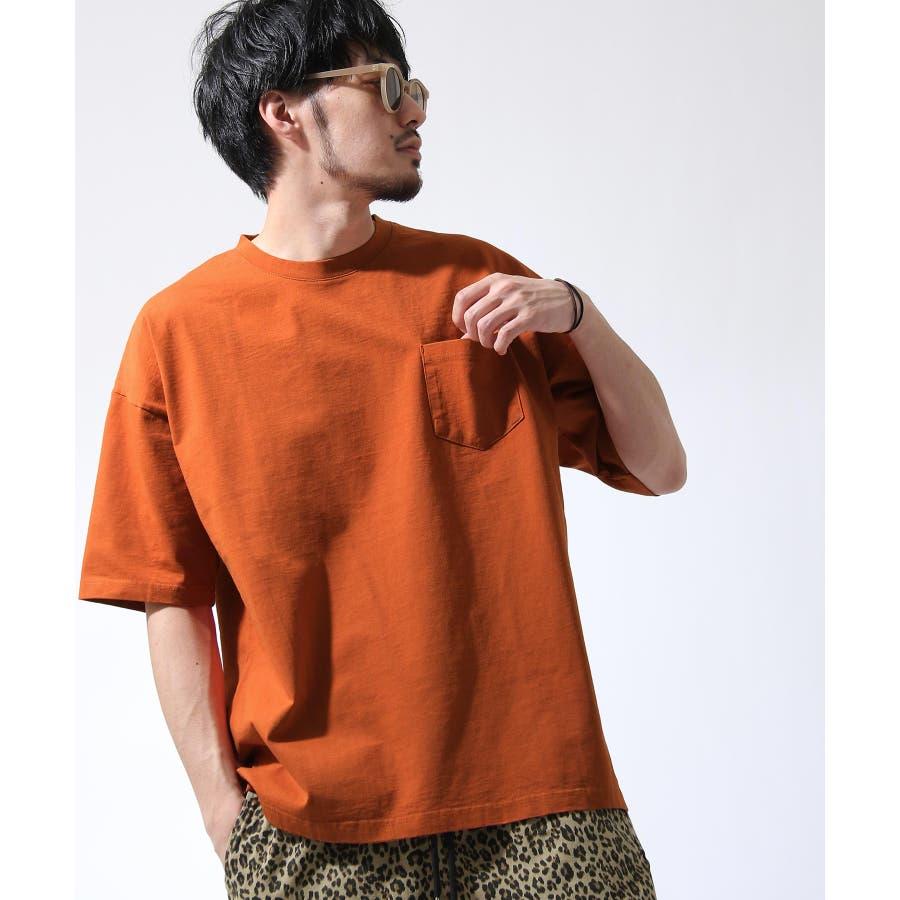 Tシャツ メンズ カットソー 半袖 ビッグシルエット ナノテック 無地 ZIP ジップ 夏 夏物夏服【i-0551006】# 99