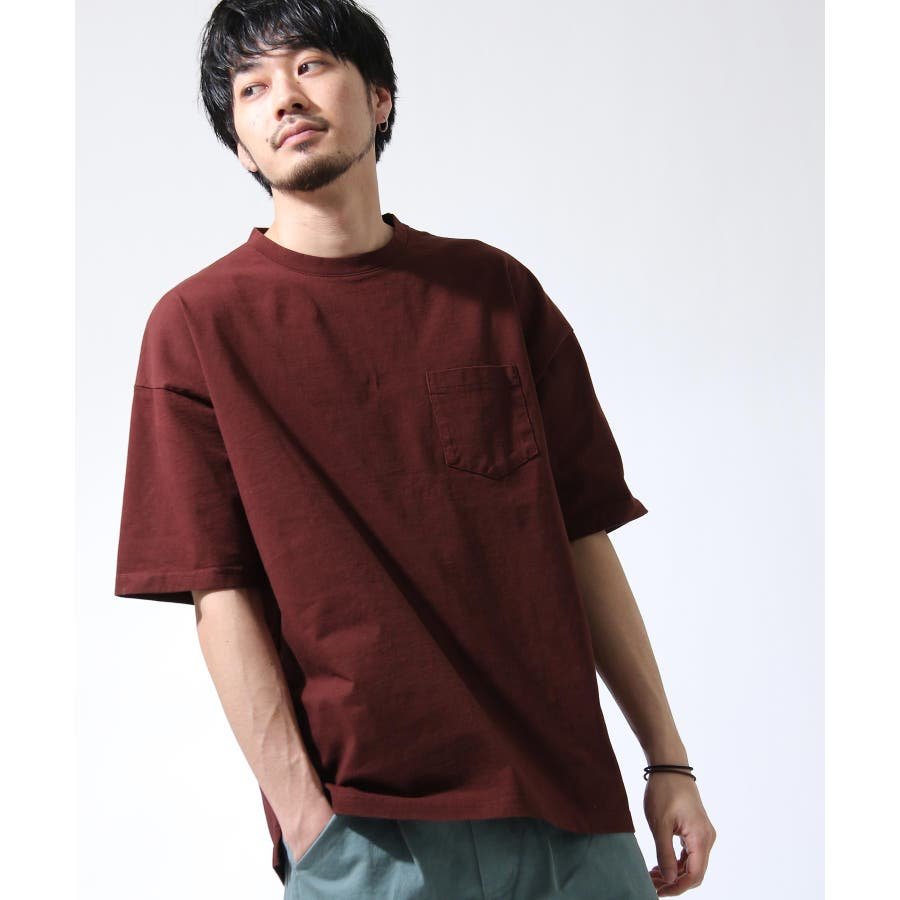 Tシャツ メンズ カットソー 半袖 ビッグシルエット ナノテック 無地 ZIP ジップ 夏 夏物夏服【i-0551006】# 29