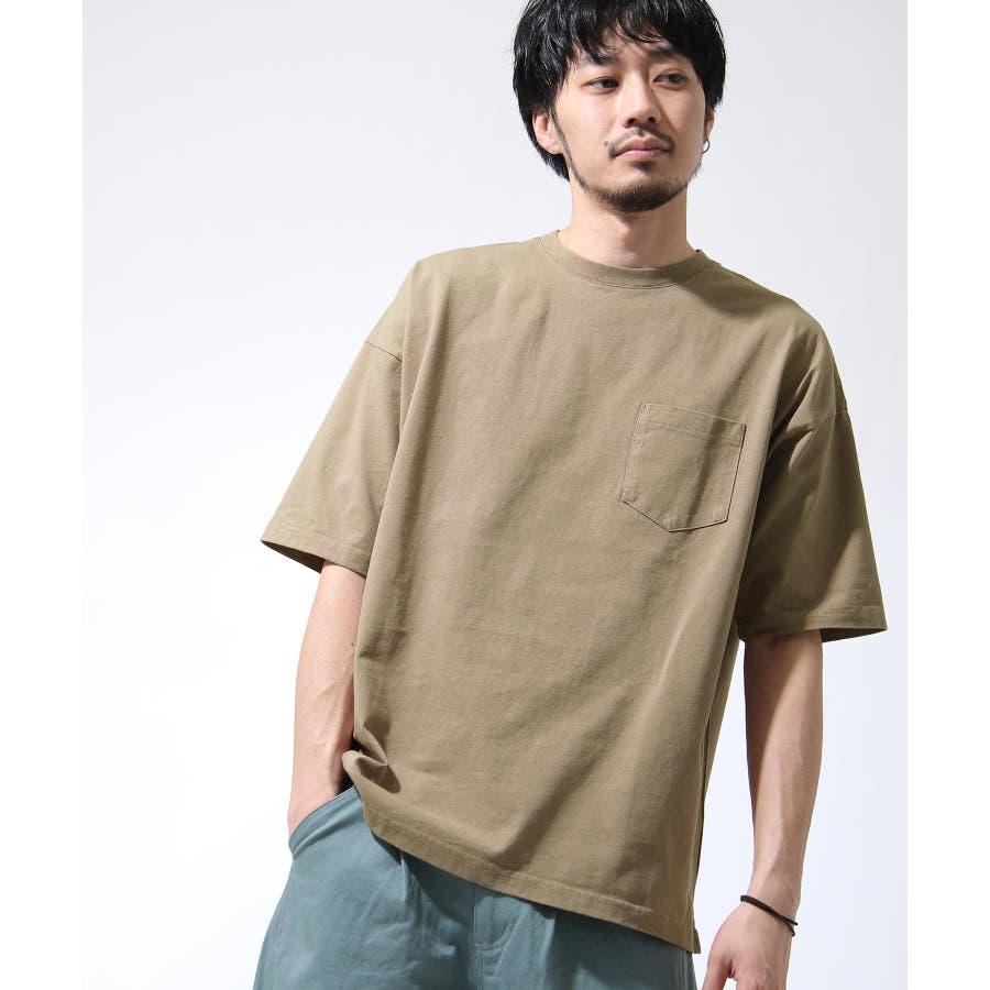 Tシャツ メンズ カットソー 半袖 ビッグシルエット ナノテック 無地 ZIP ジップ 夏 夏物夏服【i-0551006】# 46