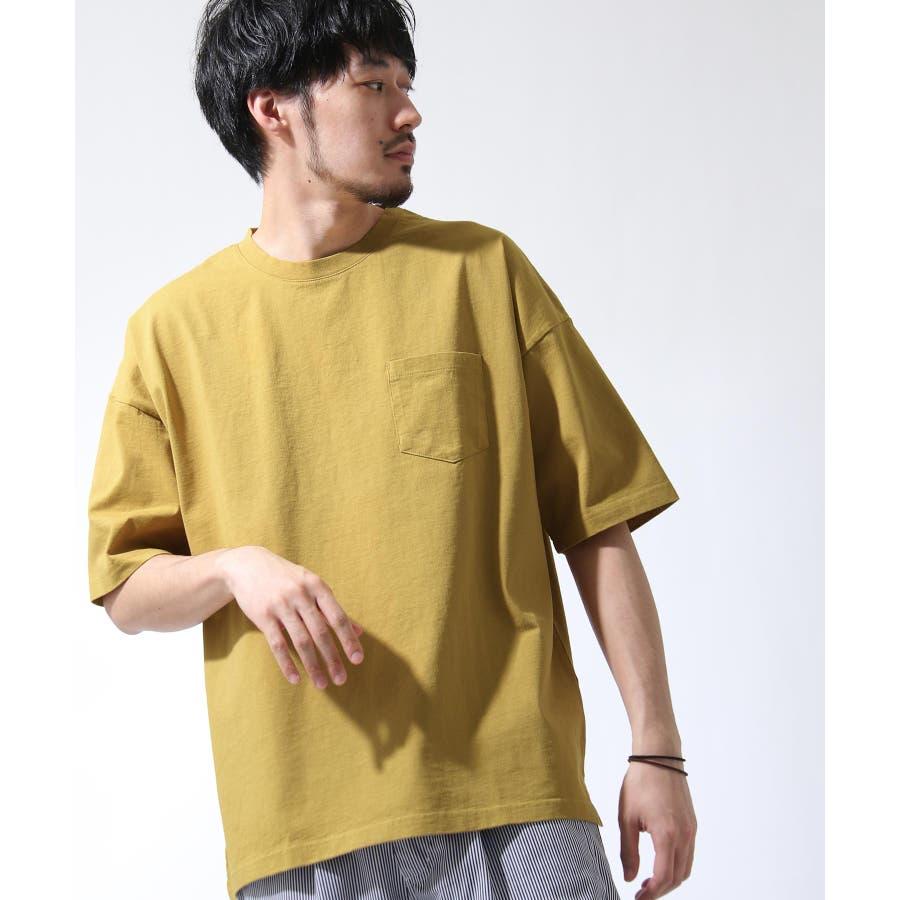 Tシャツ メンズ カットソー 半袖 ビッグシルエット ナノテック 無地 ZIP ジップ 夏 夏物夏服【i-0551006】# 85