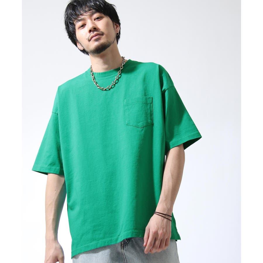 Tシャツ メンズ カットソー 半袖 ビッグシルエット ナノテック 無地 ZIP ジップ 夏 夏物夏服【i-0551006】# 47