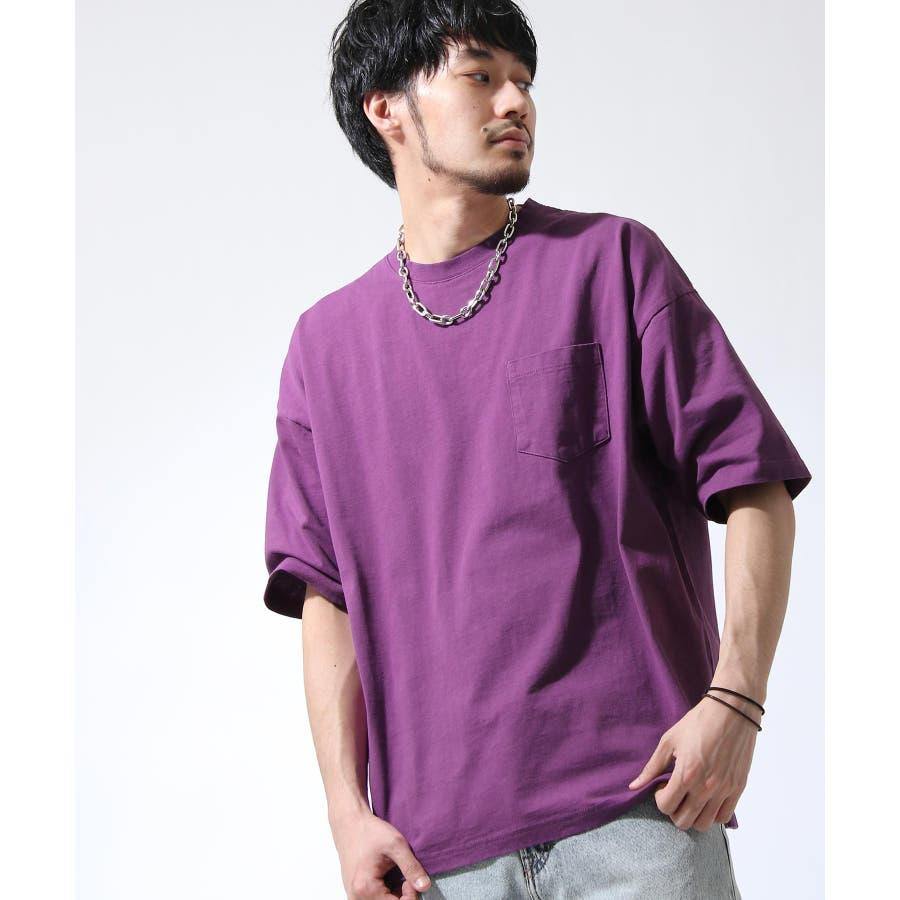 Tシャツ メンズ カットソー 半袖 ビッグシルエット ナノテック 無地 ZIP ジップ 夏 夏物夏服【i-0551006】# 77
