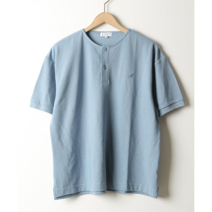 ワンポイントワッペンノーカラーポロシャツ【kgsa-ni1916】 59