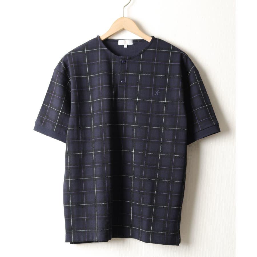 ワンポイントワッペンノーカラーポロシャツ【kgsa-ni1916】 64