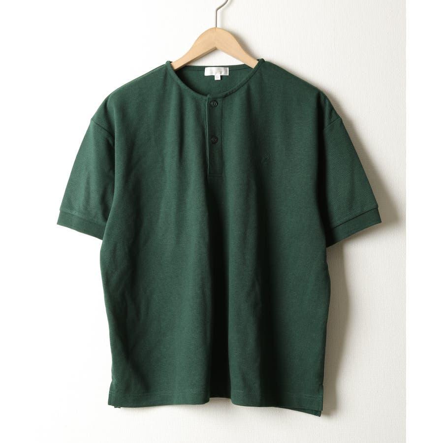 ワンポイントワッペンノーカラーポロシャツ【kgsa-ni1916】 47