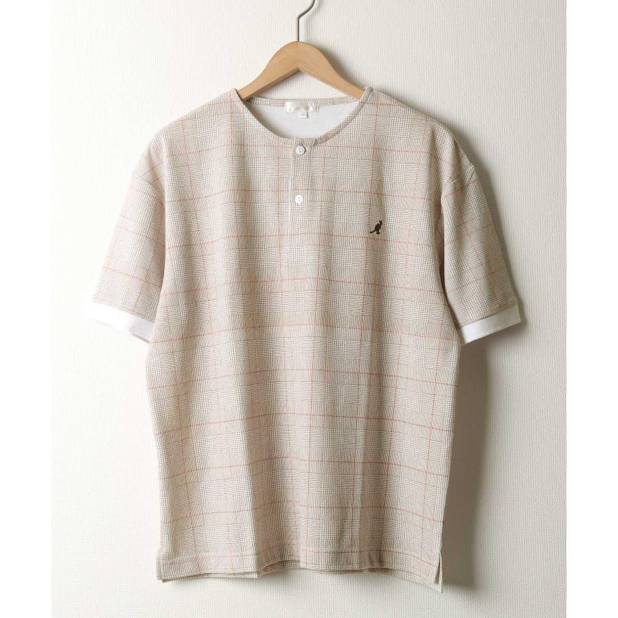 ワンポイントワッペンノーカラーポロシャツ【kgsa-ni1916】 41