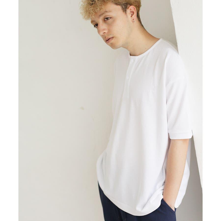 ワンポイントワッペンノーカラーポロシャツ【kgsa-ni1916】 16