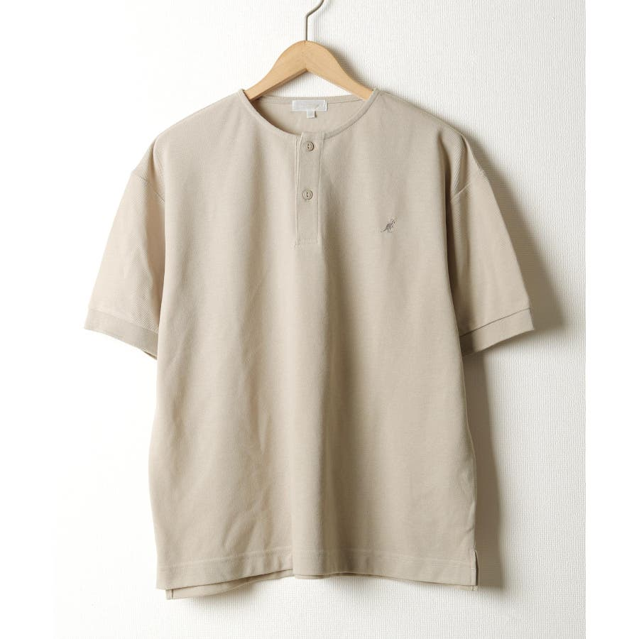 ワンポイントワッペンノーカラーポロシャツ【kgsa-ni1916】 28