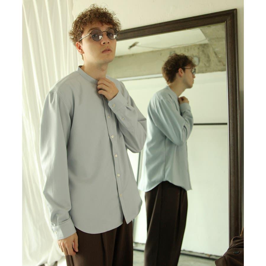 メンズ シャツ カジュアルシャツ バンドカラー Nilway ニルウェイ 夏 夏物 夏服【29-704】 66