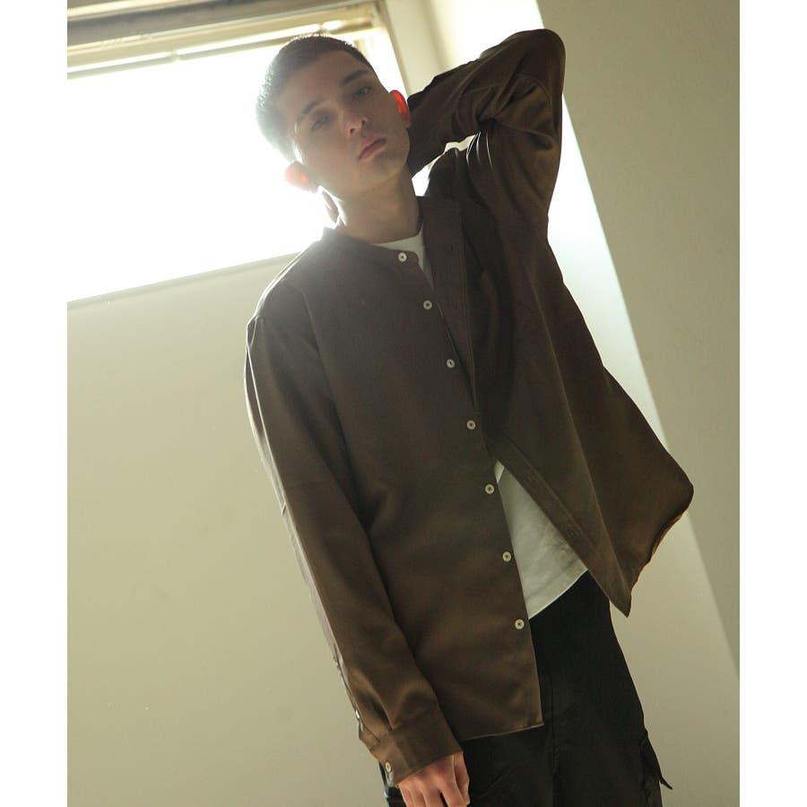 メンズ シャツ カジュアルシャツ バンドカラー Nilway ニルウェイ 夏 夏物 夏服【29-704】 31