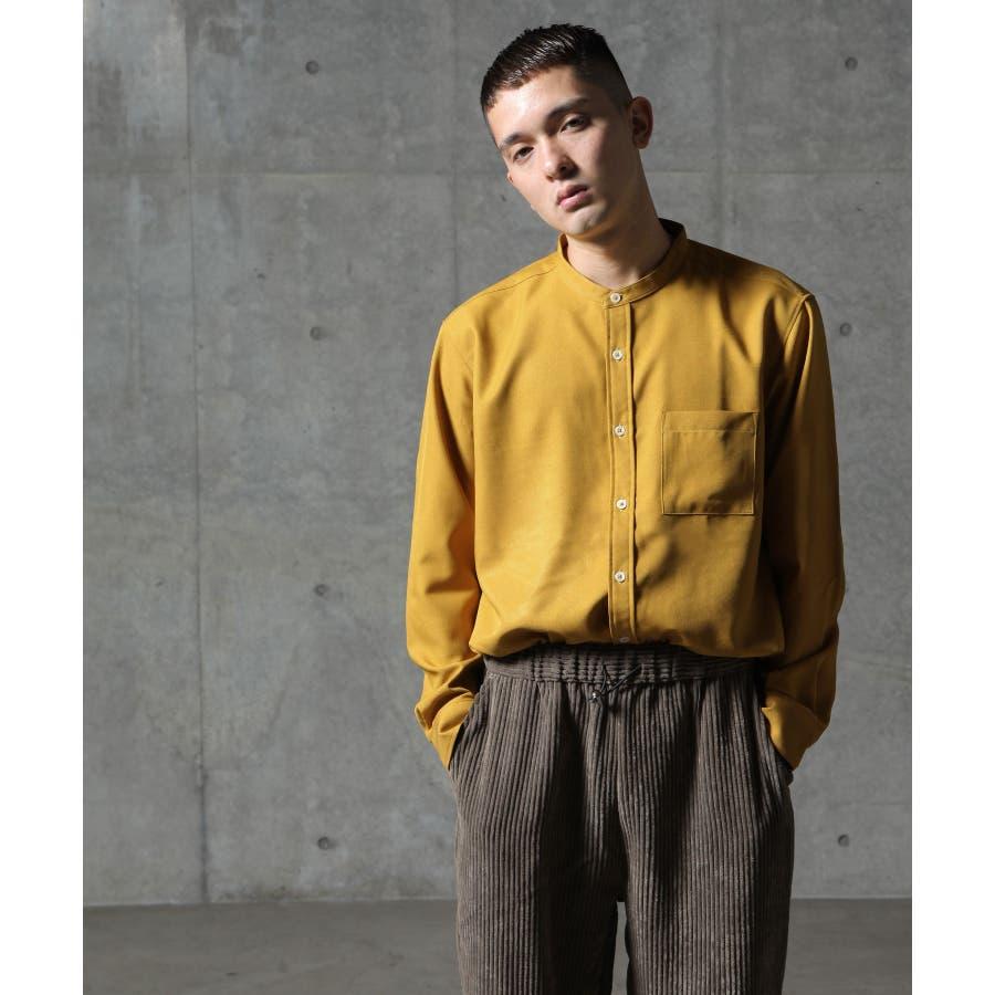 メンズ シャツ カジュアルシャツ バンドカラー Nilway ニルウェイ 夏 夏物 夏服【29-704】 85