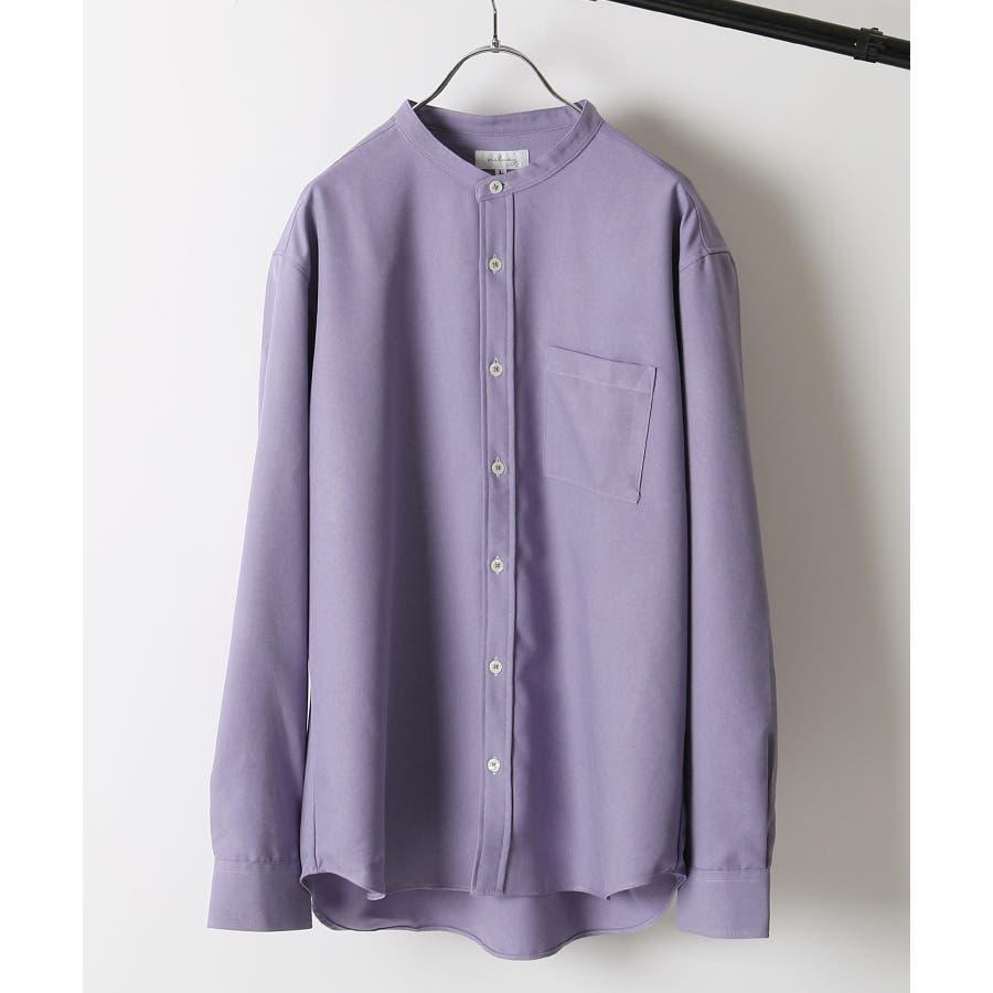 メンズ シャツ カジュアルシャツ バンドカラー Nilway ニルウェイ 夏 夏物 夏服【29-704】 77