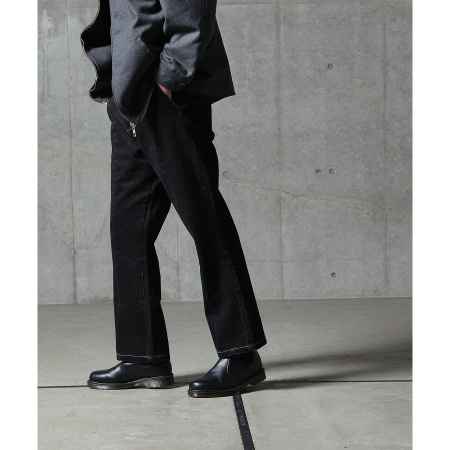 デニムパンツ メンズ フレア センタープレス ジーパン ジーンズ 秋 秋物 秋服 冬 冬物 冬服【az20111n】 9