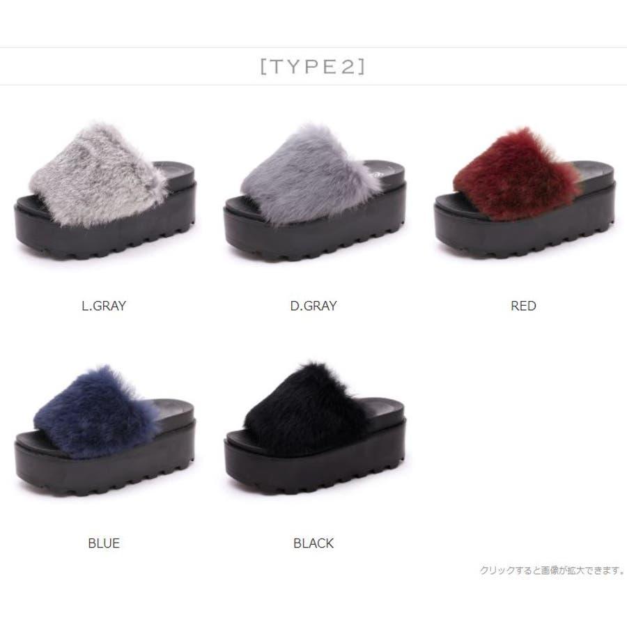 [2TYPE]リアルファー厚底サンダル/アクセサリー/サンダル/靴/リアルファー/ファー/レディース/レディス/ファッション/ジニューマーク/韓国 3