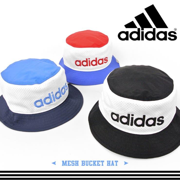 アディダス バケットハット ハット ビッグロゴ スポーツカラー メンズ レディース 帽子 男女兼用 ブラック レッド ブルー ロゴ刺繍 カジュアル スポーツ HAT ぼうし かわいい 女の子