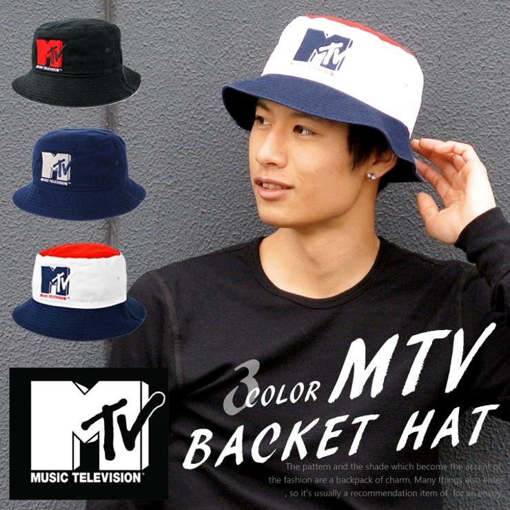 MTV ハット バケットハット ビッグロゴ バケット メンズ レディース 帽子 男女兼用 ロゴ 刺繍 カジュアル アウトドアスポーツストリート ぼうし