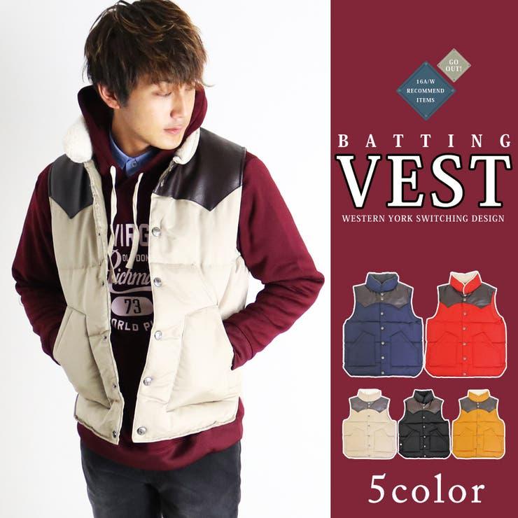 中綿ベスト メンズ ベスト 中綿 軽量 カジュアル アウター メンズファッション 秋冬 冬物 アメカジ