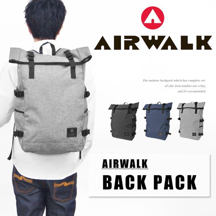 エアーウォーク AIR WALK バックパック フラップ デイパック リュックサック リュック レディース メンズ 通勤 通学 旅行大容量 ストリート シンプル