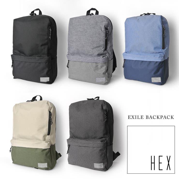 セール 50%OFF HEX リュック EXILE BACKPACK エグザイル バックパック ヘックス デザイン バックパックデイパック 通勤 通学 PCバッグ マックブック ノートPC メンズ レディース リュックサック 鞄 カバン バッグ