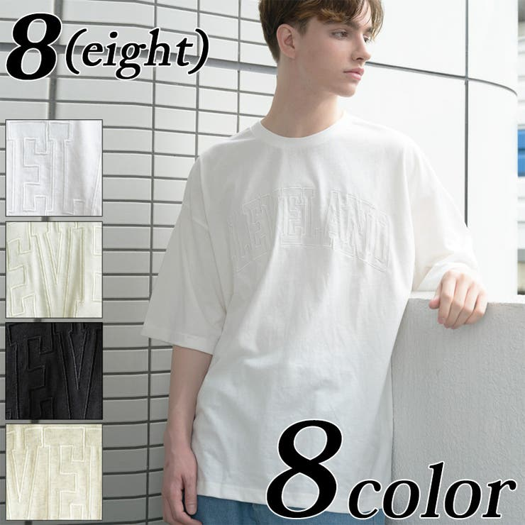 カレッジロゴTシャツ メンズ 半袖   8(eight)    詳細画像1