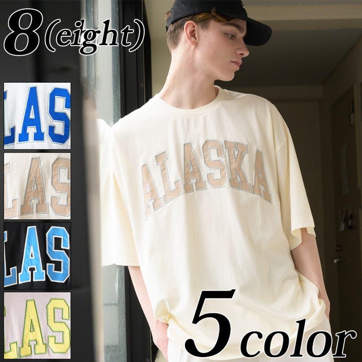 カレッジ刺繍Tシャツ メンズ 半袖   8(eight)    詳細画像1