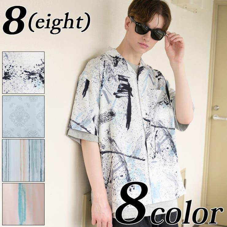 オープンカラー半袖シャツ メンズ 半袖シャツ   8(eight)    詳細画像1