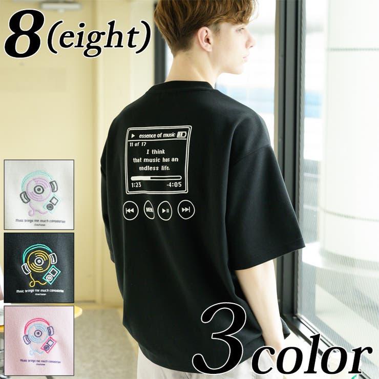 MUSICプリントTシャツ メンズ 半袖 | 8(eight)  | 詳細画像1