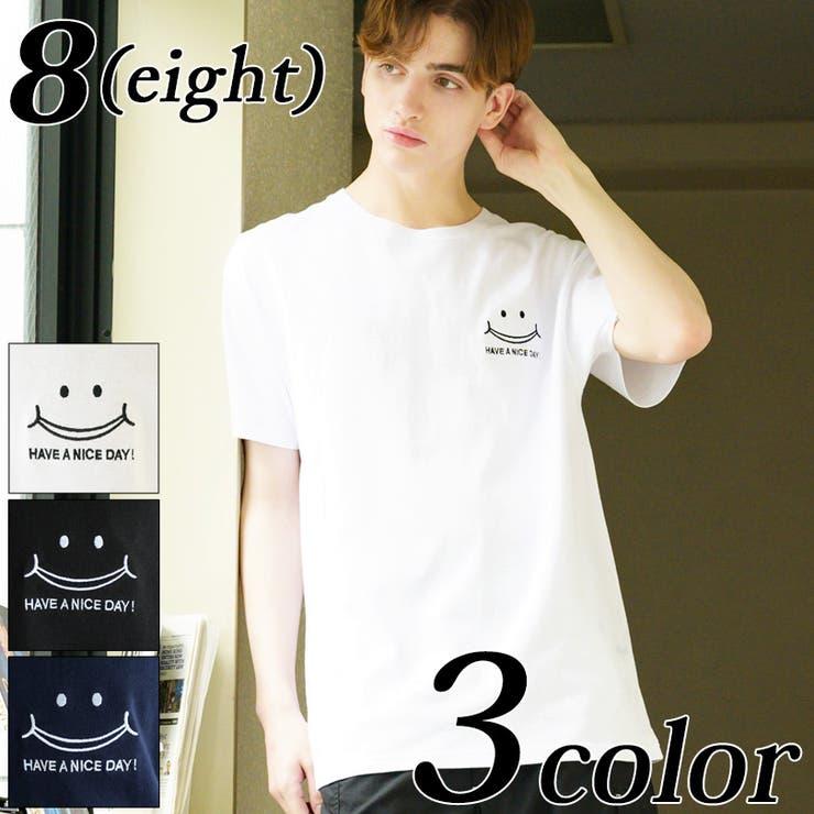 スマイル半袖Tシャツ メンズ 半袖 | 8(eight)  | 詳細画像1