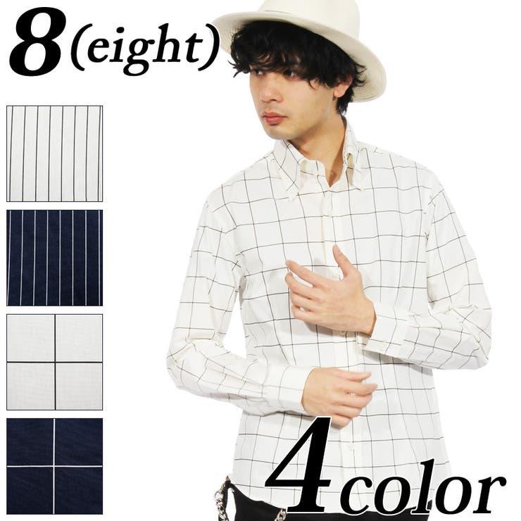 チェックシャツ メンズ 長袖シャツ全4色   8(eight)    詳細画像1