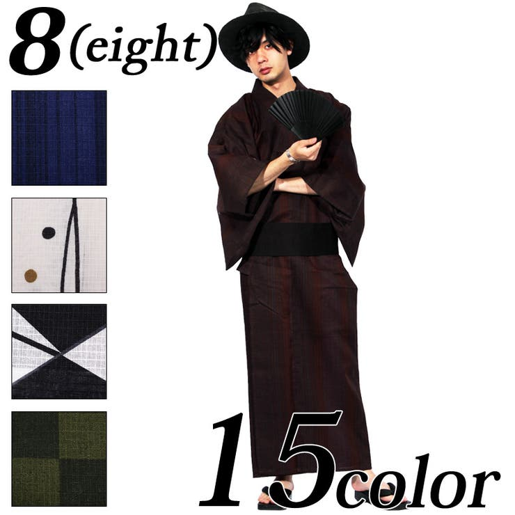 浴衣 メンズ 浴衣   8(eight)    詳細画像1