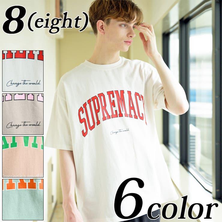 カレッジロゴビッグTシャツ メンズ 半袖 | 8(eight)  | 詳細画像1