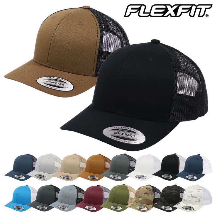FLEXFITフレックスフィットメッシュキャップメンズレディースYUPOONGユーポンFLEXFITYPCLASSICSRETROTRUCKERCAP帽子CAP無地迷彩   詳細画像