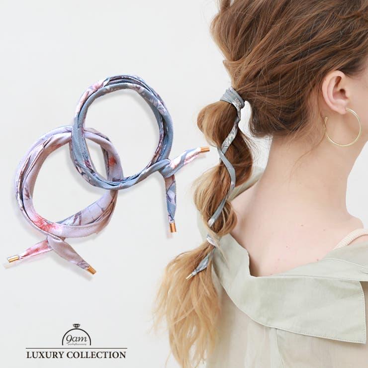 ワイヤーポニー 花柄 ヘアゴム   9am jewelry&accessory   詳細画像1