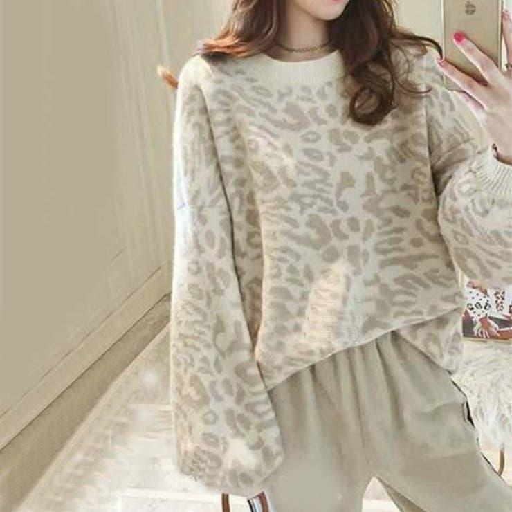 レオパード袖たぽニット | a-trend-ld.store  | 詳細画像1