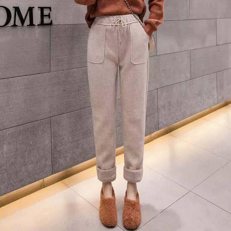 裾ボアぼけパンツ | a-trend-ld.store  | 詳細画像1