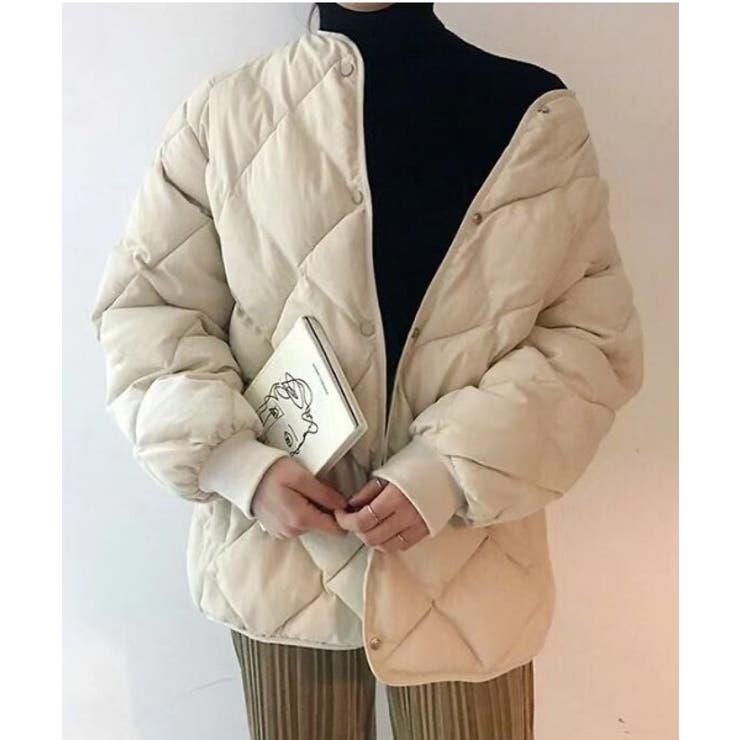 ノーカラーキルティングジャケット   ABITOKYO    詳細画像1